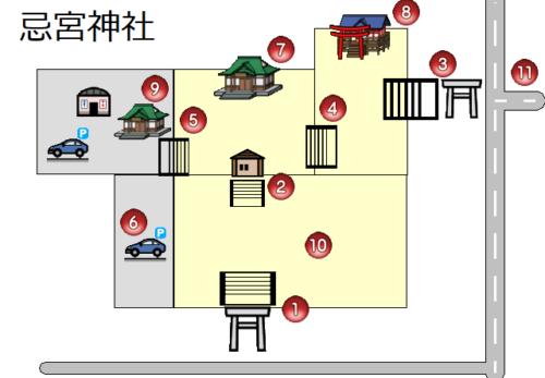 忌宮神社のバリアフリーマップ公開しました